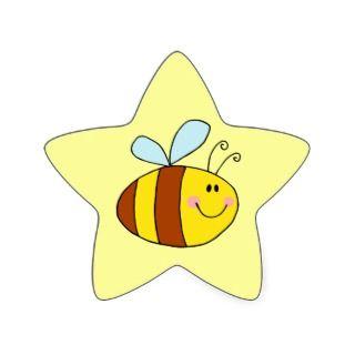 happy flying honeybee honey bee caroon sar sickers
