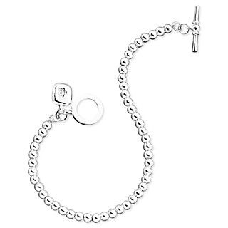 Lauren Ralph Lauren Bracelet, Silvertone Metal Bead Collection