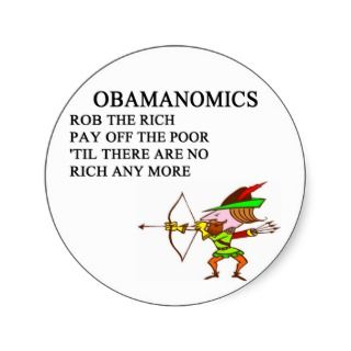 republican conservative anti obama joke round sticker