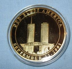 911 Coin Gold World Trade Center Statue of Liberty New York City