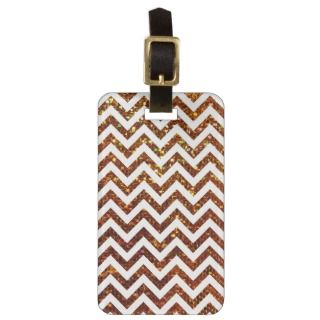 Colorful Gold Gliter Zig Zag Pattern Tags For Bags