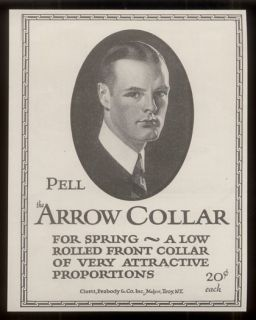 1923 J C Leyendecker Art Arrow Shirt Collar Vintage Print Ad