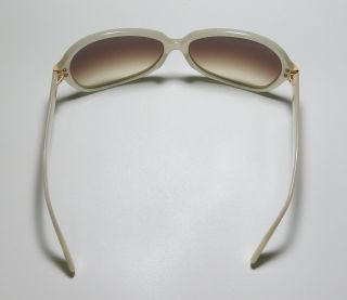 New Oliver Peoples Leyla Ivory Gold Brown Fashionable Sunglasses