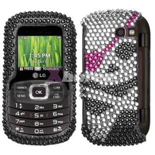 For LG VN530 Octane Cell Phone Cover Case Skull Bling