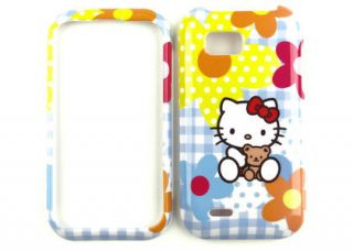 Hello Kitty Blue Hard Cover Cellphone Case for T Mobile LG myTouch Q