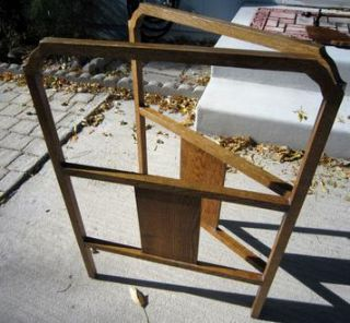 Charming LG Antique Gate Style All Oak Quilt Rack Stand