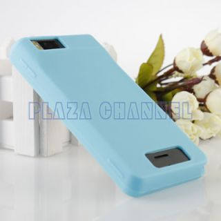 Light Blue Soft Silicone Case Cover Skin for Motorola Droid x X2 MB870