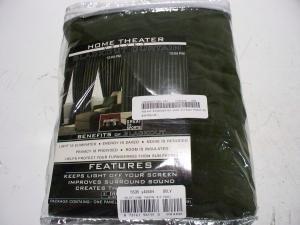 Velvet Blackout 84 inch Curtain Panel Dark Green Used