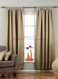 Olive Green Tab Top 90 Blackout Curtain Drape Panel Custom Made Piece