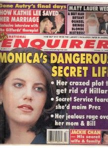 Enquirer 1998 Oct.20 Monica Lewinsky,Jackie Chan,Matt Lauer,Kathie Lee