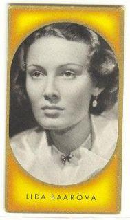 Lída Baarová 61 Czech German Beauty Actress 1930s 40s