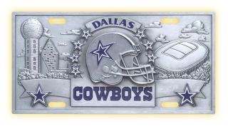 New Dallas Cowboys NFL Official 3D License Plate Cover