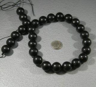 Natural Jet Loose Beads Lignite Big 15mm Round Gemstone 16 Top
