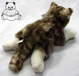 Gray Tabby Cat Gund Plush Toy Stuffed Animal Gundimals Realistic