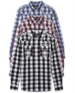 Ecko Unltd Shirt, Long Sleeve Plaid Shirt