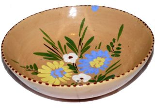 Vintage Lewis P Weil Italy Hand Painted Pottery Bowl