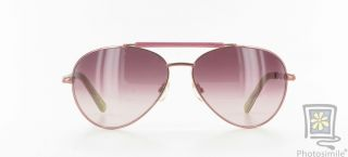 New Lilly Pulitzer Carla Pink Sunglass Frame Metal Aviator Sunglasses