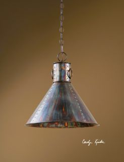 Pendant Light Hanging Chandelier Industrial Lighting Oxidized Metal