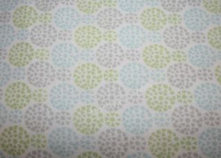 Medallion TWIN XL Sheet Set Lime Green Aqua Blue Gray Circles 200t