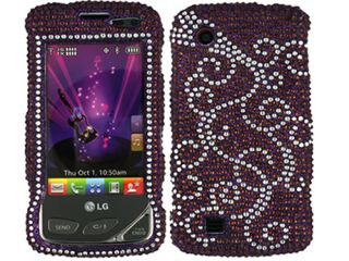 Bling Crystal Faceplate Case Cover LG Chocolate Touch VX8575