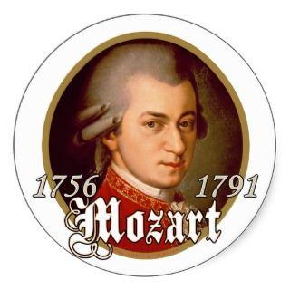 Mozart Round Stickers