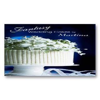 Wedding Cakes Bakery Pastry Chef Business Cards