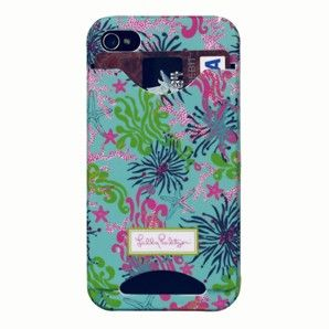 Lilly Pulitzer iPhone Case Cover 4 4S with Credit Card I D Slots Dirty