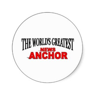 The Worlds Greatest News Anchor Sticker