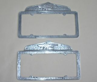 California License Plate Frames Airplane Topper 1929 55
