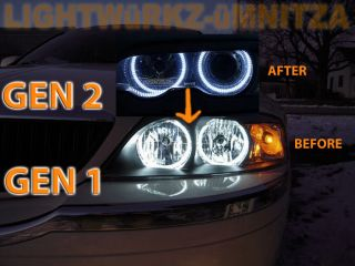 Lincoln LS 00 02 Headlights Angel Eyes Demon Eyes Halo LED DRL HID
