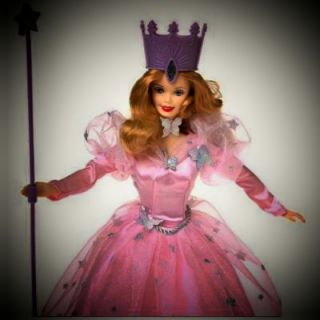BARBIE as Talking GLINDA Doll   Magic Wand WIZARD OF OZ Movie Mattel