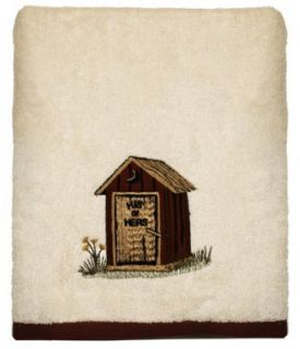 Outhouses by Linda Spivey Rustic Bathroom Accessory Bath Towel