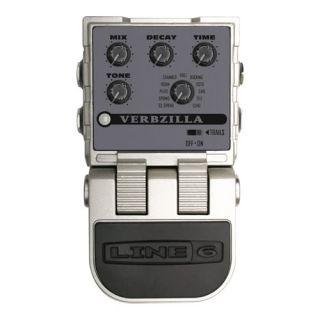 Line 6 Verbzilla Reverb Stompbox Guitar Effects Pedal Floor Open Box