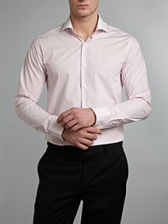 Ted Baker Regular fit shirt with white collar and cuff Pink