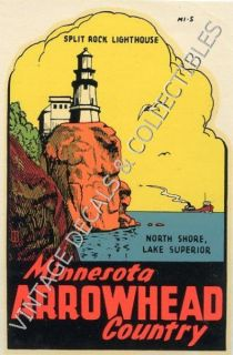 Arrowhead Split Rock Lighthouse Souvenir Travel Decal Original
