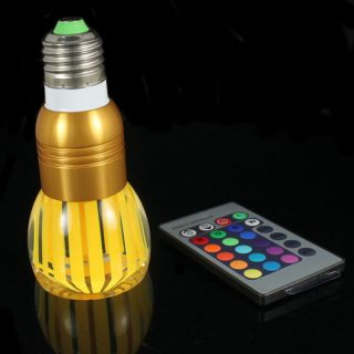 Magic Lighting LED Light Bulb And Remote With 16 Different Colors And