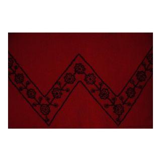 Lillie Rubin Beaded Evening Cardigan Sweater Red Black M