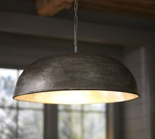 Pottery Barn Townsend Oversized Hammered Pendant Light Fixture