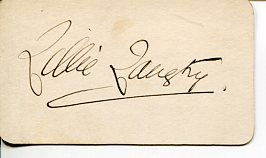 Lillie Langtry British Actress Jersey Lily Edward VII Mistress Signed