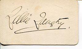 Lillie Langtry British Actress Jersey Lily Edward VII Mistress Signed