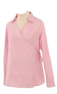 Lilo Maternity Long Sleeved Wrap Shirt Pink