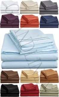1500 Thread Count Egyptian Comfort Sheet Set 13 Colors Twin Full Queen