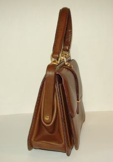 Early Vintage Gucci Leather Kelly Handbag Purse Matching Wallet