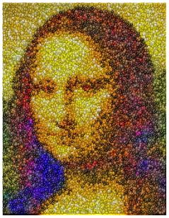 The Mona Lisa M MS Candy Incredible Mosaic in Candies