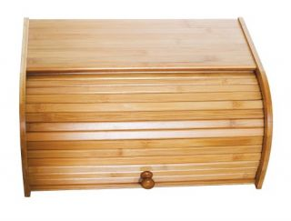 Lipper International Bamboo Rolltop Bread Box