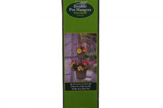 Double Plant Hangers Holds Any Size Flower Pot Patio Deck Decoration