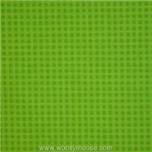 Care Bears Care a Lot Polka Dots on LIME GREEN Quilting Fabric 1/2 YD