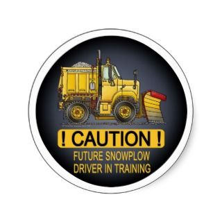 Future Snow Plow Truck Driver Kids Sticker