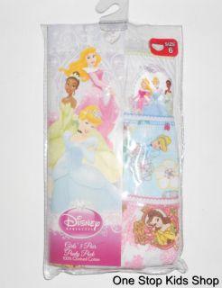 Disney Princess Girls 4 6 8 Underwear Panties Briefs Cinderella Snow