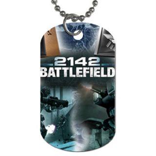 Battlefield 2142 Art Game Dog Tag Necklace Pendant